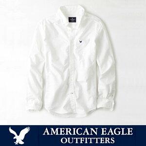 アメリカンイーグル メンズ カジュアルシャツAE SHIRT・メンズ長袖 白シャツ ボタンシャツ ae1700