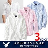 アメリカンイーグル メンズ カジュアル シャツAE SHIRT・メンズ長袖 ボタンシャツ白シャツ ブルー ピンク ae1700s