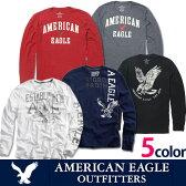 【ゆうパケット送料無料】American Eagle・アメリカンイーグルAE ロングTシャツ ホワイト・ネイビー・レッド・グレー・ブラックアメカジ ビンテージプリント ae260