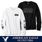 ゆうパケット送料無料American Eagle アメリカンイーグル メンズAE ロングTシャツ ロンTee ae262 ホワイト ブラック