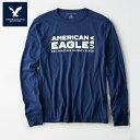 アメリカンイーグル 長袖 Tシャツ メンズ AE American Eagle 正規品 ae1981 ネイビー 紺 大きいサイズ