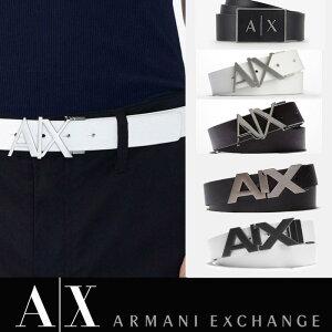 A/X アルマーニ・エクスチェンジ ARMANI EXCHANGE 正規 メンズ 本革ベルト レザーベルト ax415 ホワイト ブラック