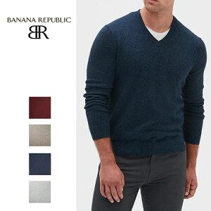 BANANA REPUBLIC バナナリパブリック バナリパメンズ ニット Vネックセーター Premium Luxe V-Neck Sweater 長袖 ba359 XL XXL 大きめ
