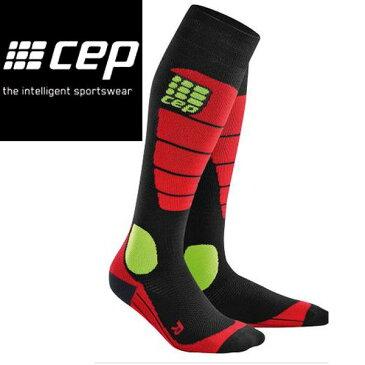 【CEP】シーイーピー Snowboard Socks/black red/サイズII〜IV/レディーススノーボードソックス 靴下【あす楽対応】
