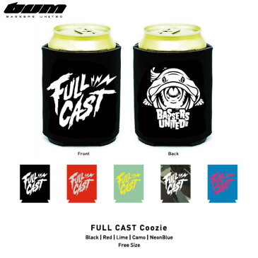 【BASSERS UNITED】バサーズユナイテッド2015春夏 FULL CAST Coozie クージー/フィッシング 魚釣り バス 缶入れ/5カラー【あす楽対応】
