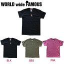 【WORLD WIDE FAMOUS】ワールドワイドフェイマス 2018春夏 TORA T メンズ レディース キッズ 半袖Tシャツ ティーシャツ トップス TEE YS-2XL 3カラー 【あす楽対応】