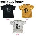 【WORLD WIDE FAMOUS】ワールドワイドフェイマス 2018春夏 AB T メンズ レディース キッズ 半袖Tシャツ ティーシャツ トップス TEE YS-2XL 3カラー 【あす楽対応】