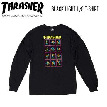 【THRASHER】スラッシャー 2018秋 FALL フォール BLACK LIGHT L/S T-SHIRT メンズ 長袖Tシャツ ティーシャツ TEE ロンT トップス S・M・L【あす楽対応】