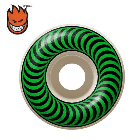【SPIT FIRE】スピットファイアー ウィール タイヤ CLASSICS クラシック 52mm 99A グリーン 4本セット ステッカー付き スケートボード スケボー【正規品】