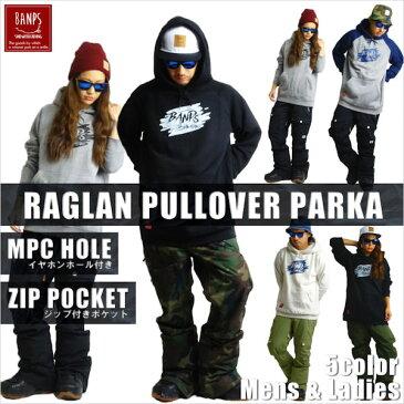 【BANPS】バンプス RAGLAN PULLOVER PARKA brush メンズプルオーバーパーカー 長袖パーカー レディース S-XL 5カラー