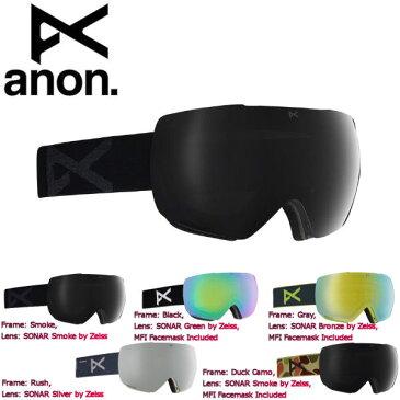 【特典あり】【ANON】アノン 2018-2019 Mens Anon Mig Goggle + MFI メンズ スノーゴーグル フェイスマスク付 スノーボード アジアンフィット 5カラー【あす楽対応】