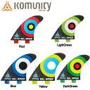 【KOMUNITY PROJECT】 KP2.0 FCS 3fin 5カラー フィン