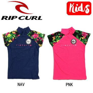 【RIP CURL】リップカール 2017春夏 キッズ ガールズ ラッシュガード 半袖Tシャツ トップス スイムウェア KIDS 子供用 130-160 2カラー【あす楽対応】