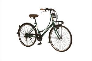 2台セット販売【送料無料 自転車 ルノー(RENAULT)グリーン/緑 シティサイクル 26インチ 自転車 外装6段変速ギア付き LEDライト ローラーブレーキ 鍵付き】自転車 ルノー ママチャリ 266L Classic-E ギア付きで使いやすいママチャリです(自転車) ルノー RENAULT 266L Classic-E 自転車。通勤 通学や買い物、新生活や入学就職のプレゼントとしても利用できる他、誕生日プレゼント、引越しお祝い等にも向いている自転車