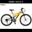 【送料無料 マウンテンバイク ハマー HUMMER 自転車】イエロー黄色【26インチ マウンテンバイク ハマー 外装18段変速ギア アルミ MTB】DH2618-E アルミニウム 激安 格安