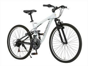 【送料無料 マウンテンバイク シボレー 自転車】ホワイト/白色【26インチ マウンテンバイク 外装18段変速ギア アルミ 】CHEVROLET CHEVY(シェビー) 自転車 シボレー AL-ATB2618EX アルミニウム シボレー CHEVROLET ATB2618EX マウンテンバイク自転車。18段ギア、ダブルサスペンションで、かっこいい自転車です。シボレーは誕生日やプレゼントにおすすめ 26インチ