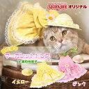ゴロにゃんオリジナル猫服 陽だまりマーガレットドレスと麦わら帽子セット その1