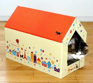 【キャットスクラッチハウス~猫ちゃん大好きトンネルハウス型~両面使えて2倍お得!キャットニ...
