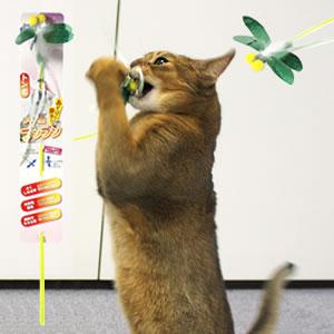 キャティーマン じゃれ猫ブンブン(トンボ)【猫用じゃらし おもちゃ 特箱】