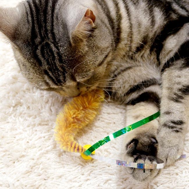 【キャティーマン】じゃれ猫 ニャゾのしっぽ【猫用 おもちゃ】