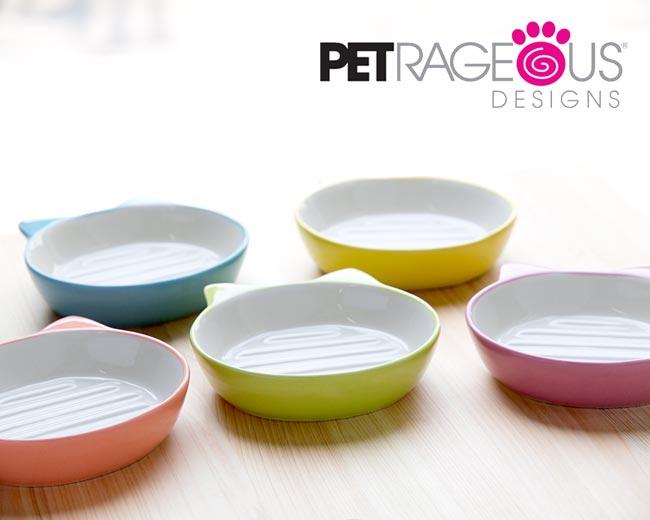 イージーダイナー キャットディッシュ〜猫耳付!底面の突起がフードをすくいやすい 猫用食器 可愛い おしゃれ