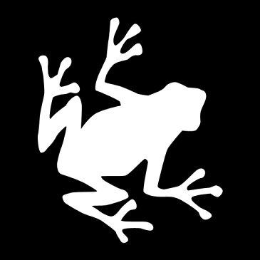 シルエットステッカーでオシャレに!♪【シルエットステッカー】かえる/カエル_E【選べるカラー】転写ステッカー/カッティングステッカーデカール防水/ M39M[メール便送料無料]【RCP】