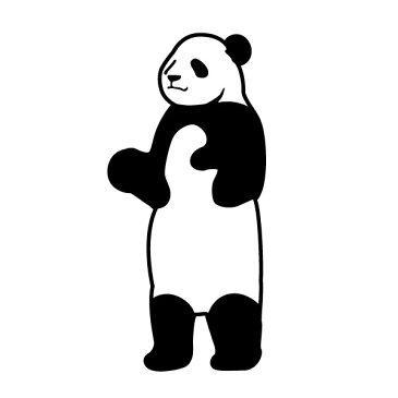 メール便等送料無料 ステッカー 立つパンダ 選べるサイズ・カラー パンダ/熊猫/シャンシャン/カンカン/ランラン/ 車のドレスアップに ポッキリ(メ3) M39M