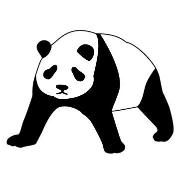 メール便等送料無料 ステッカー どっしりパンダ 選べるサイズ・カラー パンダ/熊猫/シャンシャン 車のドレスアップに (メ3) M39M