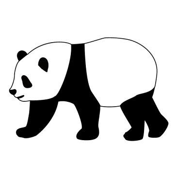 メール便等送料無料 ステッカー のっそりパンダ 選べるサイズ・カラー パンダ/熊猫/シャンシャン 車のドレスアップに (メ3) M39M