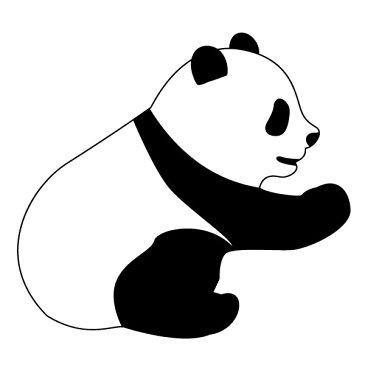 メール便等送料無料 ステッカー おすわりパンダ 選べるサイズ・カラー パンダ/熊猫/シャンシャン 車のドレスアップに (メ3) M39M