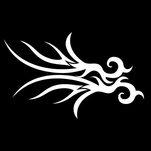 トライバルでクールに!【車・バイク・ボード等】片側のみ・トライバルパターンタトゥーデカールステッカーEタイプ【カラー10種類】スノーボード/傷隠し/サーフィン/バイク/ヘルメット/アメリカン M39M[メール便送料無料]【RCP】