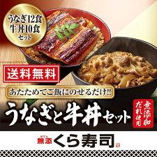うなぎ12食と牛丼10食のセット