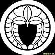 【家紋シール】 貼り付け家紋 「丸に下り藤」 KOM121 ※黒地の着物用、直径4cm