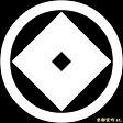 【家紋シール】 貼り付け家紋 「丸に釘抜」 KOM164 ※黒地の着物用、直径4cm