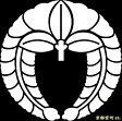 【家紋シール】 貼り付け家紋 「下り藤」 KOM189 ※黒地の着物用、直径4cm