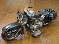 『ブリキのおもちゃ』アンティーク調ミニチュアのブリキバイクオールドバイク(ブラック)