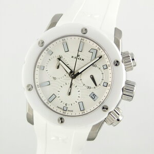 Edox EDOX Chrono Offshore 1 Chrono Lady 10225-3B-BIN Quartz White Dial Ladies Watch [Used]