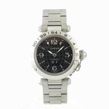 カルティエ CARTIER パシャC メリディアン ビッグデイト W31049M7 腕時計 自動巻き 【中古】