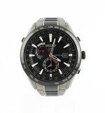 セイコーSEIKOアストロンSBXA0157X52-0AF0ソーラーGPSチタンセラミックメンズ腕時計ブラック【中古】