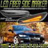 BMW LED サイドマーカーE90 E91 E92 E60 E61 E46 E87 E88ブラック ファイバー ウィンカーランプ 78ワークス