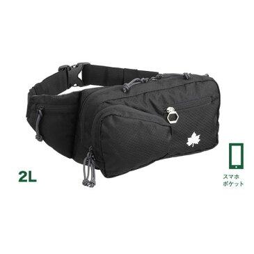 ロゴス/LOGOS サーマウントヒップ MBP(ブラック)スマホポケット付き 斜め掛けもOKで小物の持ち運びにも便利な容量2Lのワンショルダーバッグ ウエストポーチ ヒップバッグ