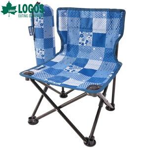 【あす楽】ロゴス/LOGOS タイニーチェア プラス-BJ(JAPON) 耐荷重100kg 大人から子供まで使えるコンパクトチェア アウトドアチェア 椅子 イス