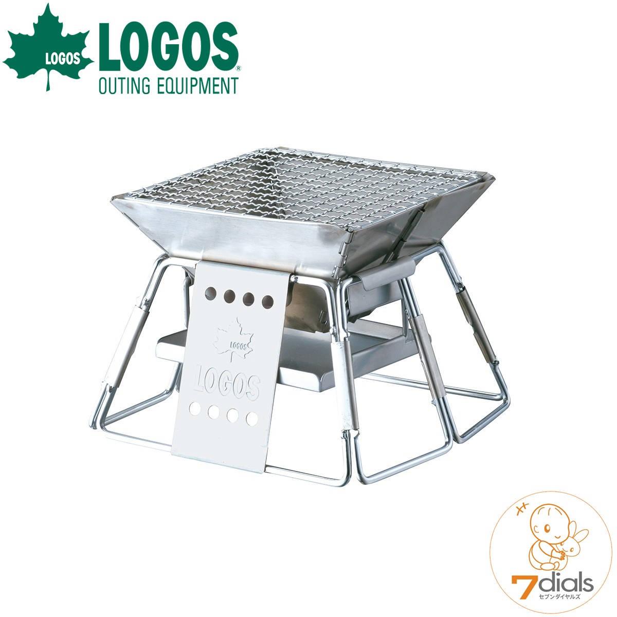 LOGOS/ロゴス ピラミッドグリル・コンパクト 卓上で炭火焼きが楽しめるロゴスのピラミッドグリル ソロキャンプでも役立つ焚火台としてもOK BBGコンロ バーベキューコンロ キャンプ