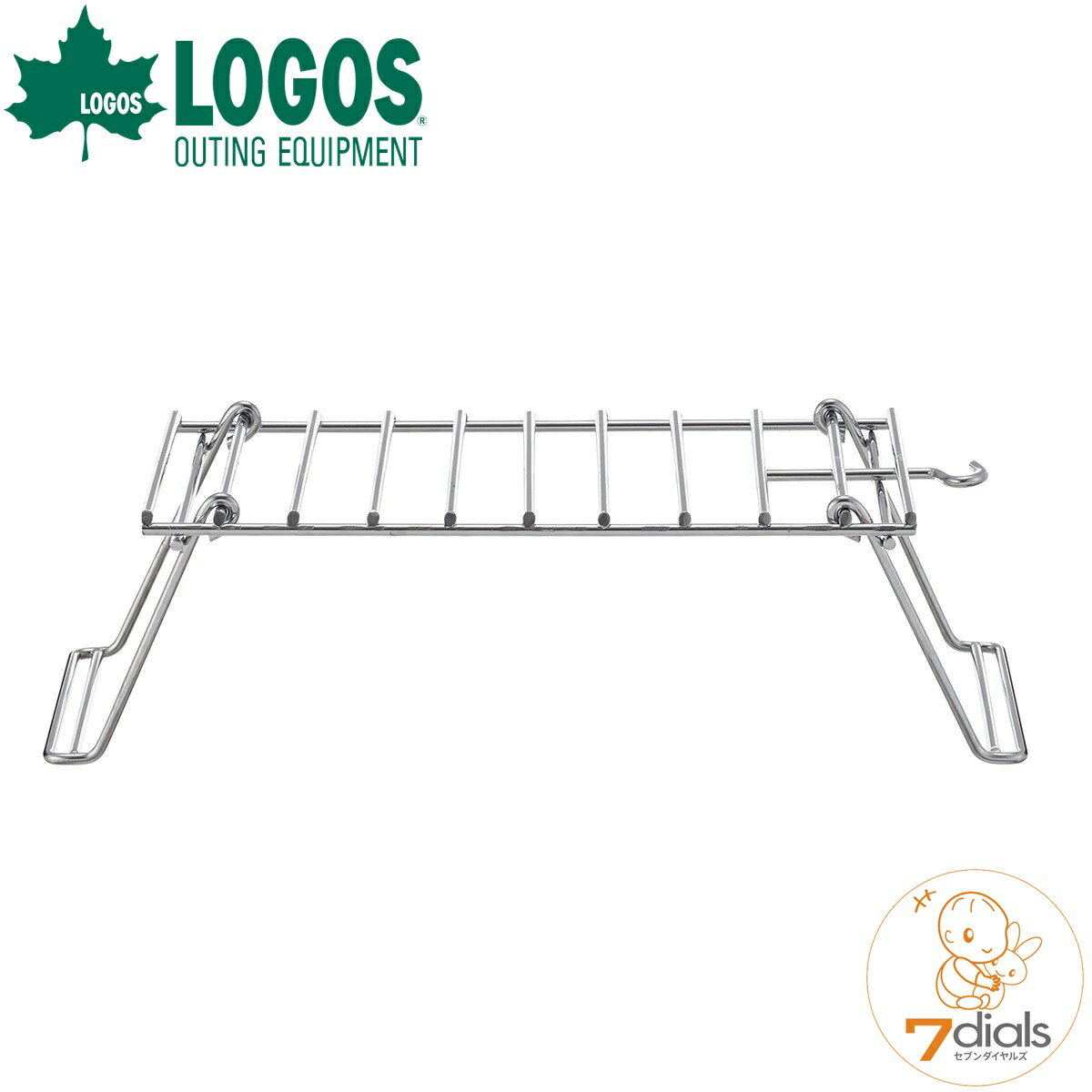 LOGOS/ロゴス ファイヤーラック L 折り畳み式の耐熱ラック ピラミッドTAKIBIにセットすればケトルや小鍋でたき火調理ができます