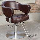 スタイリングチェアNEW YORK ダークブラウン [ スタイリングチェア チェア 椅子 イス セットチェア セット椅子 セットイス カットチェア カット椅子 カットイス 美容室椅子 美容室 美容師 開業 ][ R-2-2-1 ][ 7エステ ]
