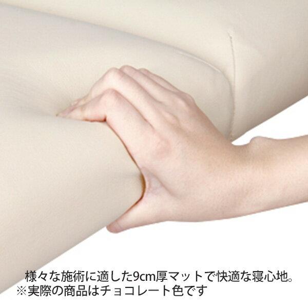軽量折りたたみマッサージベッド ( アルミ製・有孔 ) チョコレート 長さ185×幅70×高さ50~71cm [ 折りたたみベッド ポータブルベッド マッサージベッド 施術ベッド 整体ベッド エステベッド マッサージ台 施術台 整体 ベッド ベット 開業 ][ E-2-1-3 ][ 7エステ ]◆