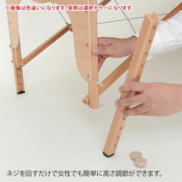 折りたたみマッサージベッドV-004 (木製・有孔) ダークブルー 長さ185cm×幅70cm×高さ52cm-82cm [ 折りたたみベッド ポータブルベッド マッサージベッド マッサージ台 施術ベッド 施術台 整体台 エステベッド マッサージ 整体 ベッド ベット ][ E-2-1-3 ][ 7エステ ]