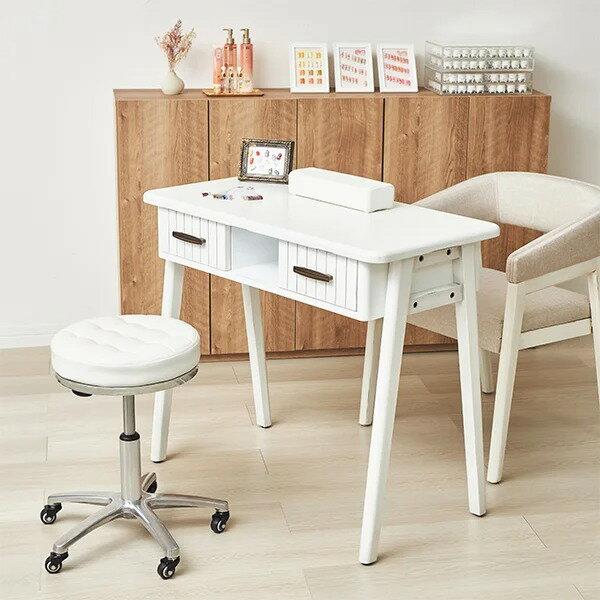 フローラル(floral)テーブル-01 全2色 [ ネイルテーブル ネイルデスク スリムデスク パソコンデスク PCデスク 平机 作業台 ネイル デスク テーブル 机 コンセント ネイルサロン ジェルネイル セルフネイル ][ N-1 ][ 7エステ ]