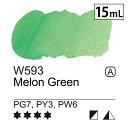 メロングリーン 15mL (W593) A [ 緑 ミッションゴールドクラス 水彩絵具 透明水彩絵具 専門家用 アーチスト 画材 絵画 水彩画 透明 水彩絵の具 えのぐ 単色 ][ ミジェロ mijello ]
