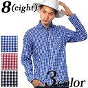 チェックシャツ メンズ シャツ 長袖 全3色 新作 シャツギンガムチェ...